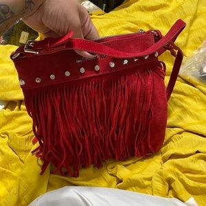 Red Michael kors crossbody